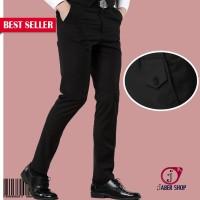 Celana Formal Hitam Pria Kerja Kantor Slimfit