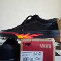 Vans old skool flame wall black