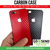 Carbon Case iPhone / Casing Carbon Slim iPhone 5 5S 6 6S 6+ 7 7+ 8+ X
