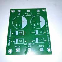 Papan PCB Power bank/Power suply simetris 2elko kecil