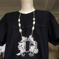 Kalung Wayang Rama Shinta Model Krawangan-Sepuh Perak (WN2B)