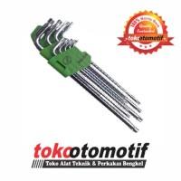 Kunci L Set Bintang Panjang 9 pcs T10-T50 MEIJER ( Original ) Popular