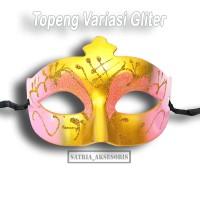 Topeng Variasi Gliter Gold/ topeng pesta / topeng mata