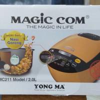 Yong Ma Rice Cooker / Magic Com Digital 2.0 Liter YMC-211 - Beige