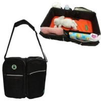 BabyGo Inc Travel Bed Diaper Bag Black