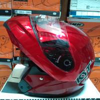 Helm KYT RRX Modular Full Face Red Fullface Visor