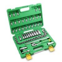 TEKIRO 3/8 INCH HAND SOCKET SET PLASTIK 58 PCS /KUNCI SOCK SET