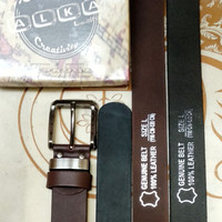 ikat pinggang, sabuk asli kulit sapi lebar 3,5cm