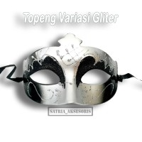 Topeng Variasi Gliter Silver / Topeng Pesta / Topeng Mata