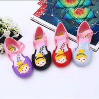 Mini Melissa Replika Jelly Shoes Snow White Flat Shoes Anak Perempuan