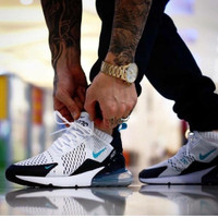 Sepatu Nike Airmax 270 White Blue Sneakers pria terbaru sports running