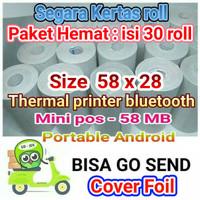 kertas kasir thermal mini printer 58 x 30