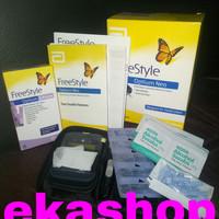 Freestyle Optium Alat Test Bundling Ketone 10 dn FREE Strip Gula 5pcs