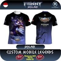 kaos Mobile Legend FANNY - Skylark