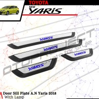 Sillplate Samping Stainless All New Yaris 2018 with LED