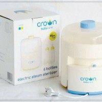 Crown Sterilizer 6 bottle / sterilisasi botol