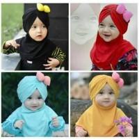 Jilbab Bayi Anak Pita Lucu / Kerudung Bayi Anak J01