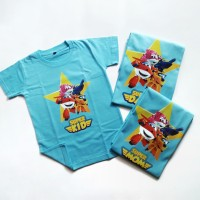 Kaos Ulang Tahun Anak | Motif Super Wings 4 | Bisa Ganti Nama