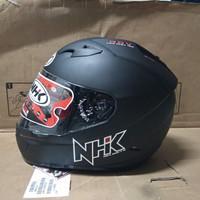 NHK GP1000 solid Helm Full Face Double Visor (SIZE XL) - Hitam Doff