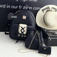 Ransel Yuka Set 3in1 Tas Korea Fashion Terbaru Tas Sekolah Anak Tas