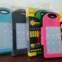 Powerbank Solar 8000 MAH Lampu 12 Led Original OLDI Karet Grade A