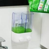 Dispenser Sabun 2 Tabung T02 bisa utk tempat shampoo & sabun mandi