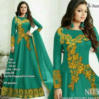 Baju pesta muslim gaun maxi dress india gamis jodha hijab abaya mewah