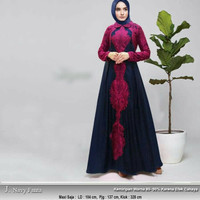 Baju pesta muslim gaun india maxi dress hijab gamis bordir abaya mewah