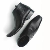 Sepatu Boot Pantofel Pria Motif Cetak Kayu 0321 Model Pantofel Kulit A