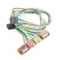 KABEL FRONT PANEL USB DAN AUDIO JACK 3.5MM / SOUND UNTUK PC CPU
