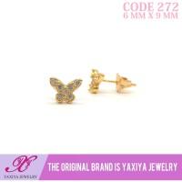 Anting anak Lapis emas permata Perhiasan imitasi Yaxiya Jewelry 272