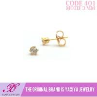 Anting anak Lapis emas permata Perhiasan imitasi Yaxiya Jewelry 401