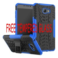 Casing Samsung Galaxy C9 Pro Kick Stand Soft Case Cover Rugged Armor