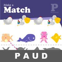 Make Match Buku Aktivitas Anak PAUD Menggambar Mengenal Gambar Bentuk