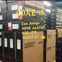 LAPTOP ASUS A442UF CORE i5. Mm 8gb hdd 1tb garansi resmi.