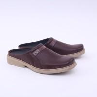 Sepatu Bustong Kulit - Sepatu Sandal Formal Pria Casual Asli Kulit Ori