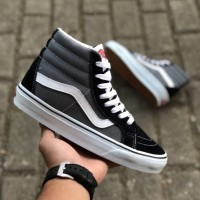 VANS SK8 HIGH GREY BLACK WHITE PREMIUM DT BNIB TAG CHINA