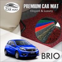 Karpet Mobil Mie Premium BRIO Non Bagasi 1 Warna - BLACK