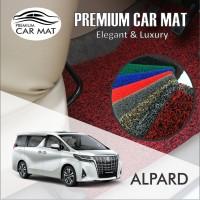 Karpet Mobil Mie Premium ALPHARD / VELLVIRE FULL Bagasi 1 Warna - BLACK