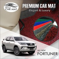 Karpet Mobil Mie Premium ALL NEW FORTUNER Non Bagasi 1 Warna - BLACK