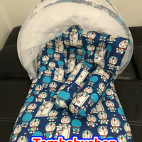 KASUR BAYI KELAMBU MOTIF DORAEMON MAGIC DOOR