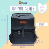 Gabag Nusa Diaper bag 2 in 1 Cooler Bag - TAs Asi - Ransel Ibu