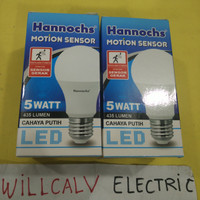 LAMPU LED HANNOCHS MOTION SENSOR / SENSOR GERAK 5W