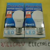LAMPU LED HANNOCHS MOTION SENSOR / SENSOR GERAK 9W