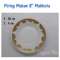 "Piring Makan 8"" Mahkota (6 pcs) / Piring Keramik"