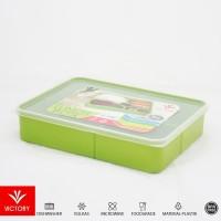 KOTAK MAKAN CATERING - VICTORY LUNCH BOX 5 SEKAT - GREEN - Green