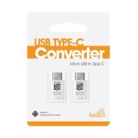 Fonel Micro USB to Type C Connector - White [Beli 1 dapat 2 Connector]