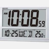 SEIKO QHL080S - Jam Dinding Meja Digital - LCD besar