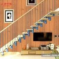Papan kayu coklat 45 cm x 10 mtr || Wallpaper sticker dinding
