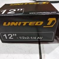 12 1/2 x 2 1/4 Ban Dalam Sepeda anak United , American Valve (AV)